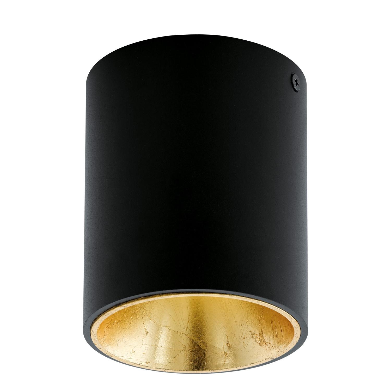 eglo wandleuchte deckenleuchte led polasso schwarz gold led max 1x3 3w innenleuchten. Black Bedroom Furniture Sets. Home Design Ideas